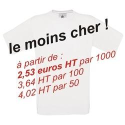 Tee-shirt B&C 145 gr blanc